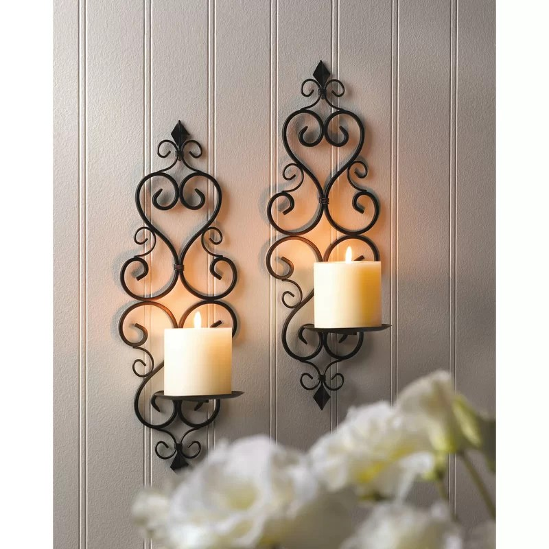 Wrought Iron Candle Holders For Walls