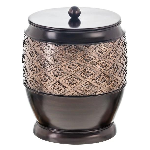 Dublin Brown Small Resin Waste Basket