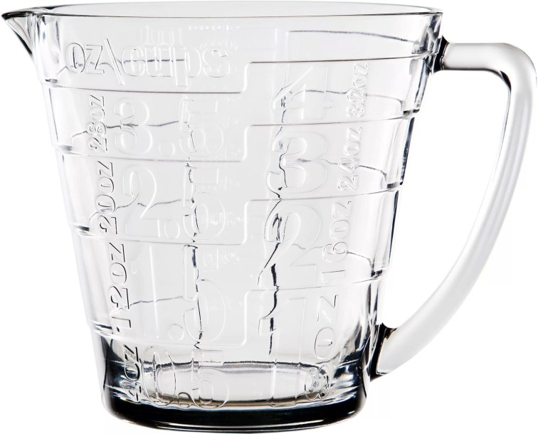 Home Essentials and Beyond 4-Cup Glass Measuring Cup