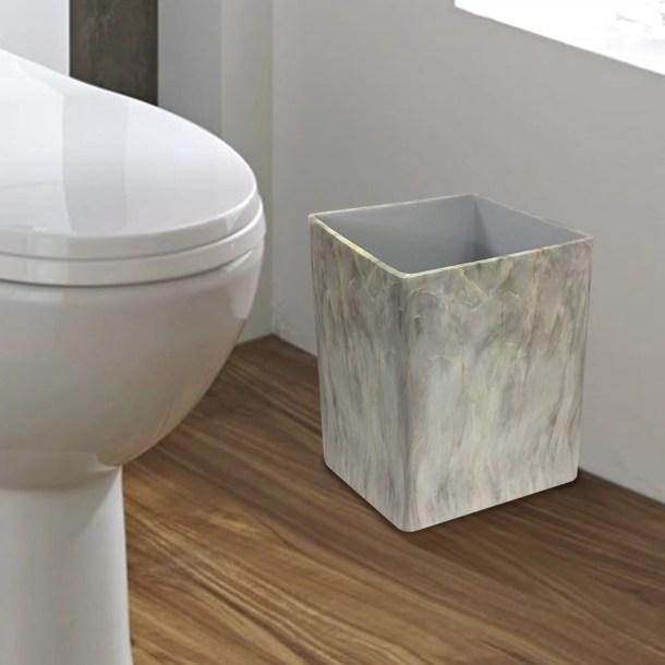 Menasha Small Square Resin Waste Basket