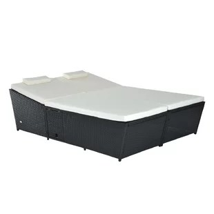 Outdoor Wicker Daybed   Wayfair Save