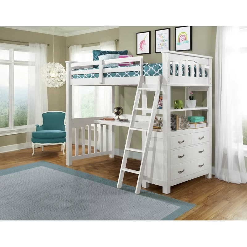 Bedlington Loft Bed with Shelves