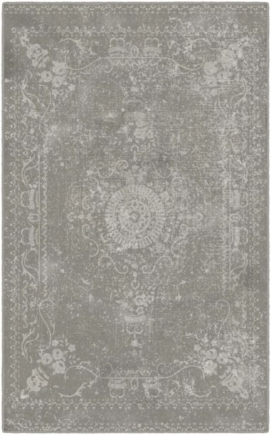 Cheever Neutral Distressed Persian Gray Area Rug