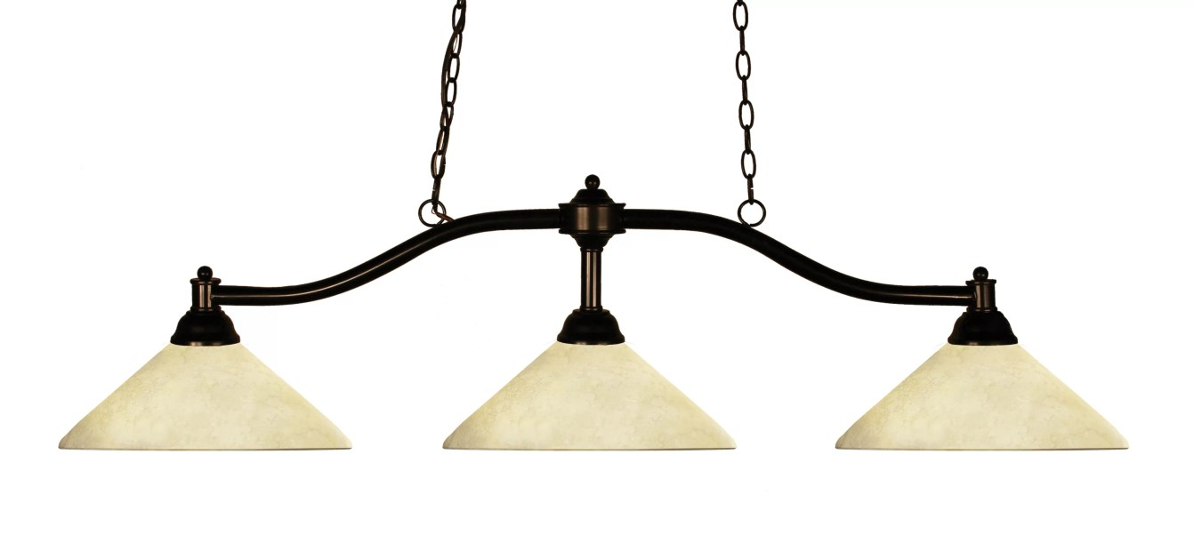 Beecroft 3-Light Pool Table Cone Pendant
