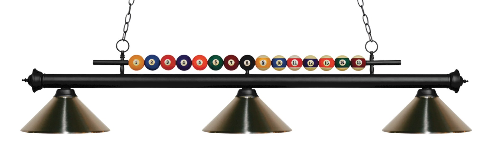 Chapa 3-Light Pool Table Lights Linear Pendant