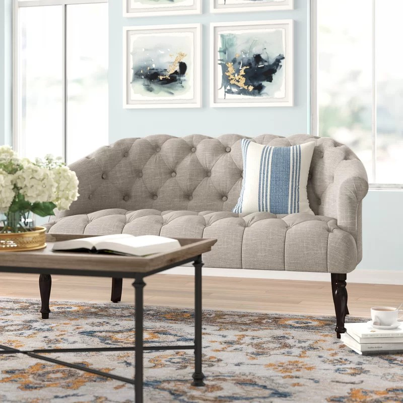 Tight Back Sofa With Chaise