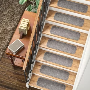 Non Slip Backing Stair Tread Rugs You Ll Love In 2020 Wayfair | Safety Treads For Wooden Stairs | Anti Slip Stair Nosing | Rubber | Pet Friendly | Slip Resistant | Floating Staircase