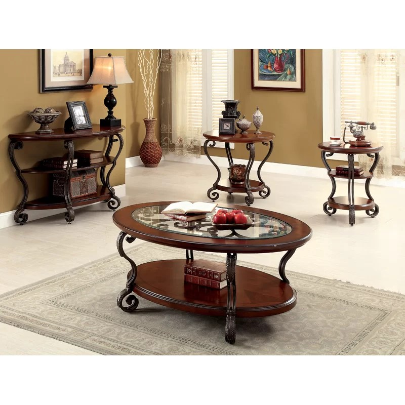 Oval Coffee Table With Storage