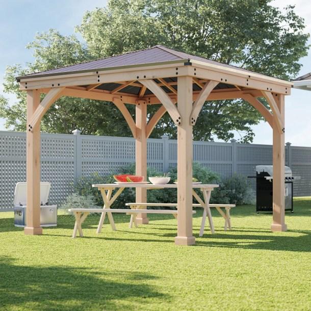Meridian 10 Ft. W x 10 Ft. D Solid Wood Patio Gazebo