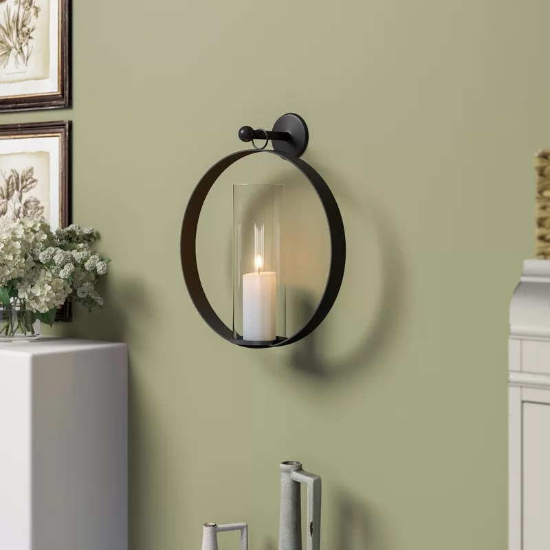 Tall Mirrors With Candle Holders On The Side