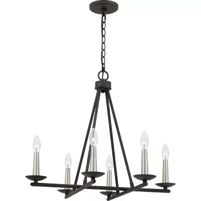 Best Price Cendrillon 6 Light Candle Style Geometric Chandelier Furniture Online