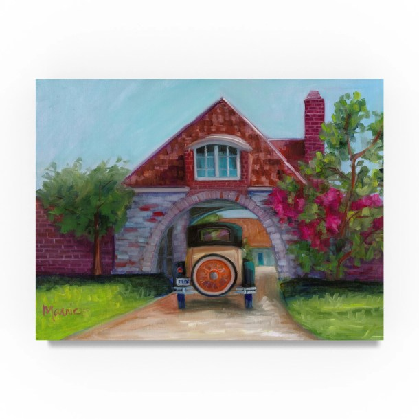 'Going Home' Oil Painting Print on Wrapped Canvas