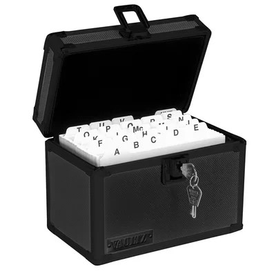 Index Card Safe Box with Key Lock