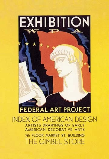 'WPA Federal Art Project: Index of American Design' by Katherine Milhous Vintage Advertisement