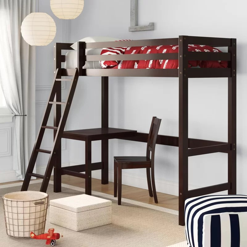 Nickelsville Twin Loft Bed with Chair