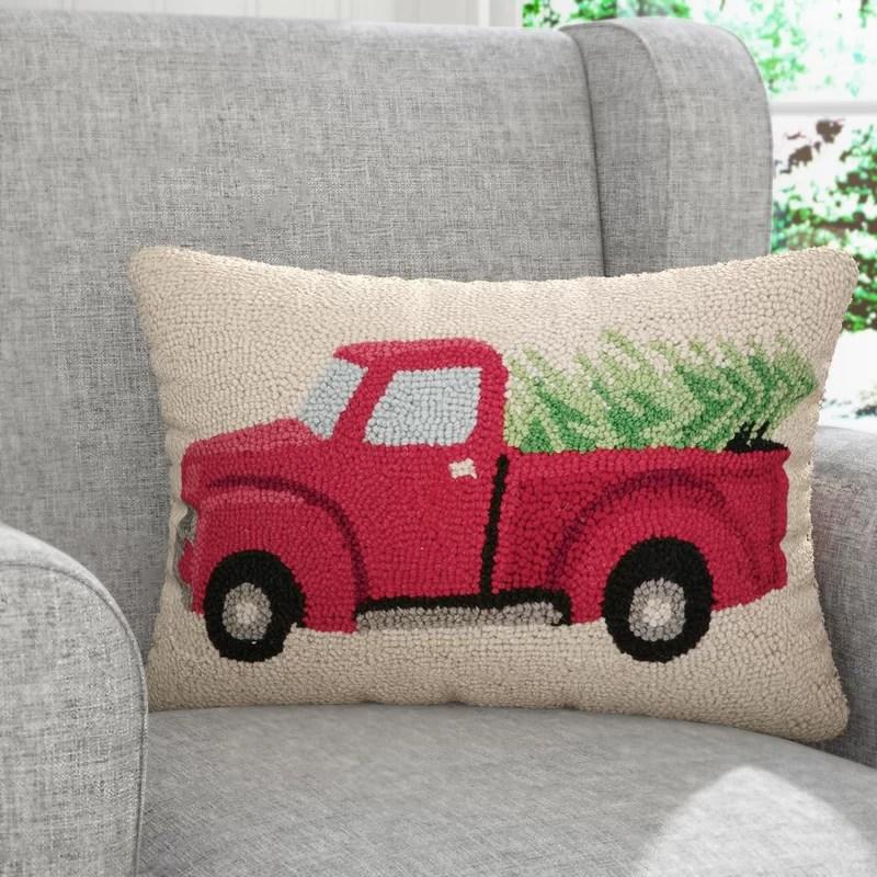 Yowell Tree Haul Hook Wool Lumbar Pillow