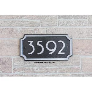 Modern   Contemporary Address Plaques   Signs You ll Love   Wayfair Superior Series Modern Font Chamford Wall Address Plaque