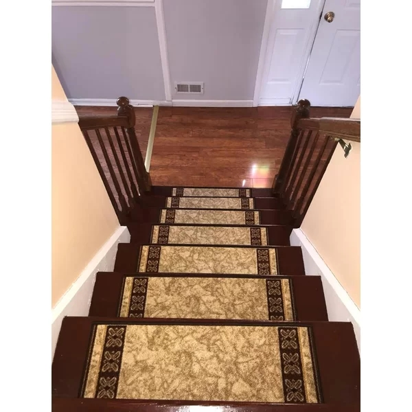 Outdoor Step Treads Wayfair | Braided Stair Treads With Rubber Backing | Non Slip | Skid Resistant | Anti Slip | Heritage Farms | Slip Resistant