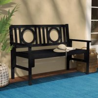Unwinding in the garden just got even greater thanks to this beautiful Fort Lauderdale Wooden Garden Bench. Simply plop on a few plush pillows, unwind with your latest read, and soak in the style as you do the sun. Showcasing a chic openwork back and slatted seat, this traditional design is crafted of solid acacia wood with a washed-out finish. Though it may be weather-resistant, you certainly shouldn't feel limited to keeping this pleasant piece out back - for example, if your entryway could...