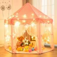 NEWFANGLED CASTLE DESIGN: Inspired by castles in fairy tale, this beautiful and remarkable princess house can help your little princess dreams come true. Which kid does not like a little secret place?