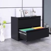 Add a file cabinet to your space that seamlessly blends with your office with its simple geometric build that is highly durable withstanding rigorous usage.