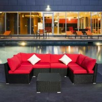 This set will perfect for patio, porch, backyard, balcony, poolside, garden, lawn, bistro, conservatory, and other space home and outside. The coffee table with glass-topped is durable and easy to clean. Let you and your guests sit back, relax, and enjoy the great outdoors.
