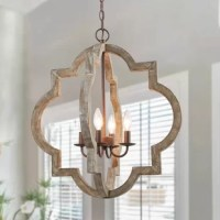Brilliant and unique, this chandelier light will add extra sophistication to your home. The globe design is crafted from handmade distressed wood. The brown finish gives the chandelier light elegant look, while the 4 lights inside add an urban rustic touch.