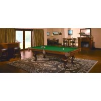 With its classic profile, arched base frame, carved corners, and solid wood ball and claw legs, the Danbury embodies all the design characteristics of the quintessential pool table. It also embodies Brunswick's legendary construction, including 1-1/2