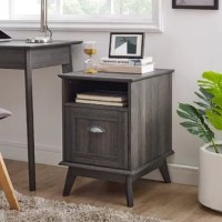 The mixture of modern and retro style adds a touch of sleek sophistication to any home office, dorm room or bedroom. Durable, thick, and high-pressure laminate will better withstand daily use and abuse than pure wood or veneer.