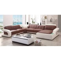 Anchor your living room with this charming sectional, perfect for movie nights and casual cocktail parties.