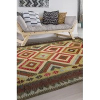 These beautiful flat-woven reversible Hereke kilims are extraordinarily unique. Hand woven with 100% pure 3.5 count yarn wool and high quality vegetal dyes. Dynamic and colorful with striking Caucasian patterns, these kilims are practical as they are attractive.