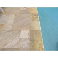 The MSI's  Riviera brushed travertine pool copings add a timeless Tuscan beauty for your surroundings, outdoors or indoors. Ideal for poolside's or step treads, these are durable and have various shades of gold and yellow that create subtle visual interest. With a bullnose on one long side, the tile provides various install options that blend seamlessly to create a perfect setting. Note: Inspect all tiles before installation. Natural stone products inherently lack uniformity and are subject...