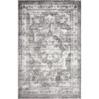 Bare floor giving you the blues? Rolling out an area rug fixes that! This design brings boho-chic charm to any space, displaying a Persian-inspired motif with a medallion in the center and an erased-weave look for a touch of antiqued appeal. This fade- and the stain-resistant piece is perfect for placing in high-traffic areas such as the living room or entryway. No matter where it ends up, we recommend using a rug pad to keep it in place.