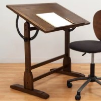 The Studio Designs Vintage Drafting Table is a multi-purpose desk that can be used for drawing or as a workstation. This drafting table is made of premium quality wood, which ensures that it is sturdy and enables years of reliable use. It sports a rustic oak finish that enhances its natural look. The Vintage Wood Drafting Table by Studio Designs allows the angle of the tabletop to adjust to the arrangement that is best suited for you. It has pencil ledges that are useful for keeping your...