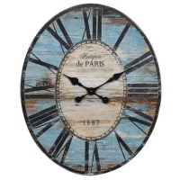 Don't settle for a simple wall clock to merely ensure you're on time. Bring both function and French flair to your space with this oversized 29