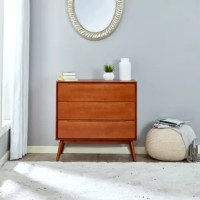 The mid-century Dresser is the contemporary interpretation of iconic design trends of the past century. Solid edging and smart joinery, it brings class and sophistication to your bedroom. It is crafted from solid wood, walnut color easy to match any interior design.