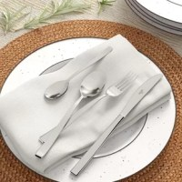 Whether you're starting from scratch with new flatware, or are just looking to replace a few older pieces, adding a set like this to your home is a great way to add clean, modern style to your dining set. This 24-piece set is crafted from rust- and tarnish-resistant stainless steel with a silver finish, and includes forks, knives, tablespoons, and teaspoons with service for six people. When dinner's done, just toss this set in the dishwasher for fuss-free clean up.