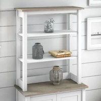 Organize your personal library or display pictures and decorations with shelf storage that suits your casual home. Highlighted by its relaxed modern farmhouse style, the file organizer is a perfect way to brighten up any living space with your favourite decor. This cabinet hutch with shelves is for safety and performance.