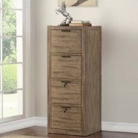 Staying organized has never been easier than with this stylish tall file cabinet. Its four drawers ensure everything has a place while a vintage antique muslin finish adds stylish character.