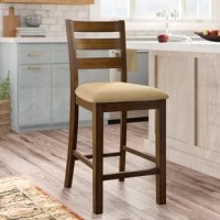 With its classic style, the Pristine Bar Stool with Cushion recalls the elegance of casual every day design. This stool provides comfortable seating for the dining table, work space or bedroom.