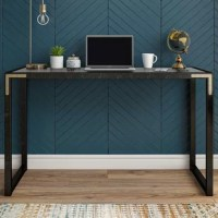 The CosmoLiving Bel Air Writing Desk is something to get excited about. Straight lines and modern gold accents give this chic black desk a top-notch design perfect for any fashionista. Here's the gamechanger: a wireless charging spot on the desktop allows you to charge your phone after uploading all of your insta-worthy décor shots #CosmoLiving. Get the Bel Air desk to werk in style.