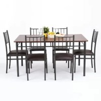 This  Dining Table sets is a great addition for any home. With smooth lines and a slightly rounded edge, not only does this rectangular dining table look smooth and welcoming, it allows you to eat in peace, not worrying if your table is going to look shabby while you have friends and family over. Plus, enjoy the added benefit of having a gorgeous finish to boast about.