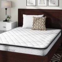 This 10-Inch Pillow Top Mattress is constructed with tempered steel wrapped innerspring coils that improve the mattress's durability and longevity. The Classic innerspring mattress is an excellent value for a supportive and undisturbed sleep for years to come