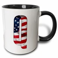 Big Q Where We Go One We Go All Q-anon USA Flag WWG1WGA Truth Mug. Why drink out of an ordinary mug when a custom printed mug is so much cooler? The image is printed on both sides. Hand washing is recommended.