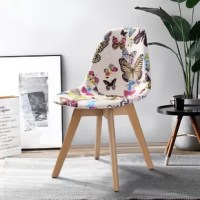 Modern and elegant design with fabric cushion seat and back, perfect for using in your living room, dining room, bedrooms, waiting room.
