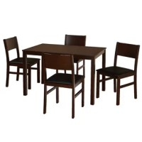 Mariann Lucca 5 Piece Solid Wood Dining Set