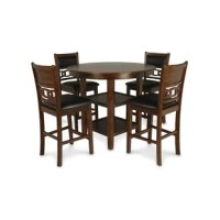 This dining set is expertly crafted with solid wood and fine wood veneers. This dining set feels like an expensive set at half the price. You won't find this value anywhere else!