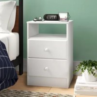 Have all you need close at hand with this 2-Drawer Nightstand. The two drawers discreetly tuck away everything you want out of sight, while the open shelf is perfect for stashing your favorite books, blankets or knickknacks.