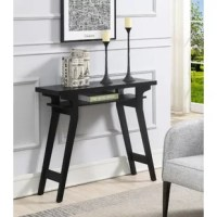 Ideal for small spaces, the Hubbard Lynda Console Table by Ebern Designs will take up minimal square footage while optimizing your storage and display space. Showcases a contemporary style to upgrade your home decor. Place it in your entryway, hallway or home office and witness its limitless versatility. Provides ample tiers that are ideal to display your favorite collections or to keep your out the door essentials handy. You can even place a colorful tote basket right below the second shelf...