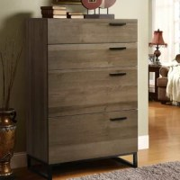 ?Unique Design?This chest features with 4 spacious drawers and metal leg, elegance appearance and practicality match with any decoration, is great for living room, bedroom, study.